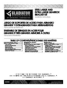 JUEGO DE SOPORTES DE ACERO PARA ARMARIO GRANDE Y EXTRAGRANDE PARA HERRAMIENTAS