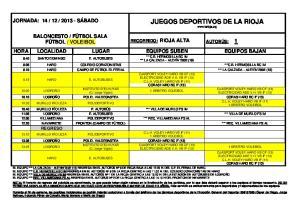 JUEGOS DEPORTIVOS DE LA RIOJA
