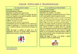 JUEGOS POPULARES Y TRADICIONALES