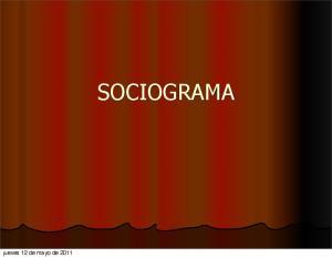 jueves 12 de mayo de 2011 SOCIOGRAMA