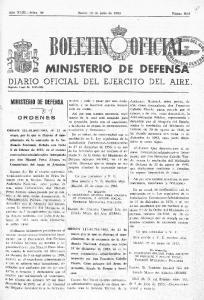 Jueves 14 de julio de 1983 MINISTERIO DE DEFEN DIARIO OFICIAL DEL EJERCITO DEL AIRE
