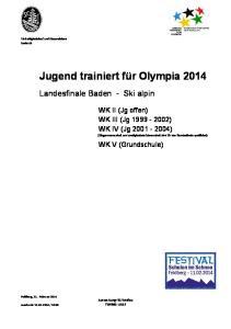 Jugend trainiert für Olympia 2014