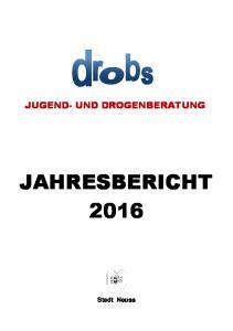 JUGEND- UND DROGENBERATUNG JAHRESBERICHT Stadt Neuss