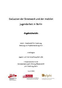 Jugendarbeit in Berlin