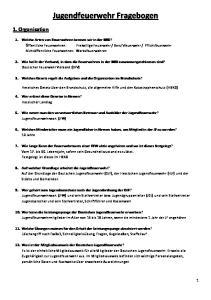 Jugendfeuerwehr Fragebogen