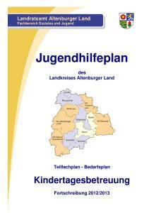Jugendhilfeplan. Kindertagesbetreuung. Landratsamt Altenburger Land Fachbereich Soziales und Jugend. des Landkreises Altenburger Land