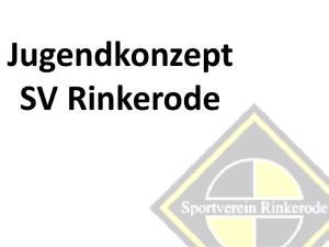 Jugendkonzept SV Rinkerode