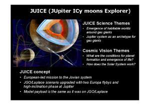 JUICE (JUpiter ICy moons Explorer)