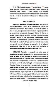 JUICIO DE AMPARO INDIRECTO ****