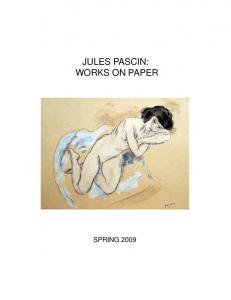JULES PASCIN: WORKS ON PAPER