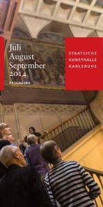 Juli August September 2o14. Programm