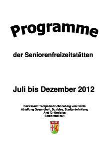 Juli bis Dezember 2012