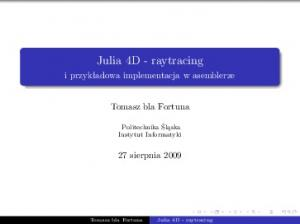 Julia 4D - raytracing