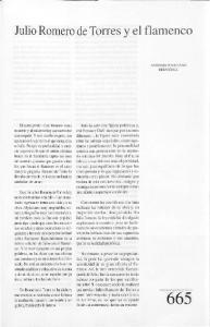 Julio Romero de Torres y el flamenco