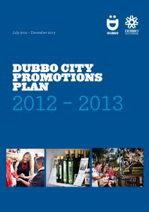 July 2012 December Dubbo City Promotions Plan