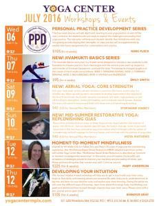 JULY 2016 Workshops & Events
