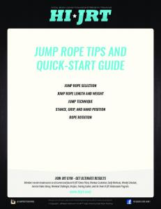 JUMP ROPE TIPS AND QUICK-START GUIDE