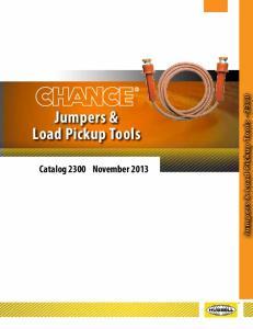 Jumpers & Load Pickup Tools