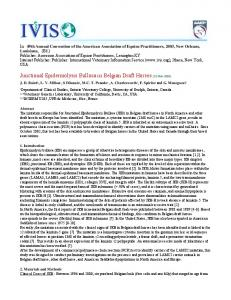 Junctional Epidermolysis Bullosa in Belgian Draft Horses (21-Nov-2003)