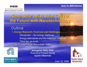 June 16, 2009 Seminar