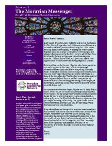 June 2016 The Moravian Messenger Rural Hall Moravian Church Newsletter