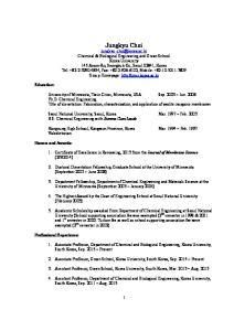 Jungkyu Choi. Seoul National University, Seoul, Korea Mar ~ Feb B.S. Chemical Engineering with Summa Cum Laude