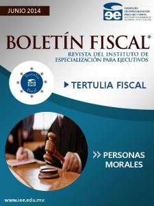 JUNIO 2014 TERTULIA FISCAL PERSONAS MORALES