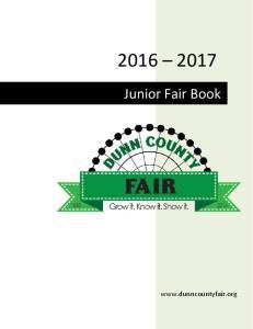 Junior Fair Book