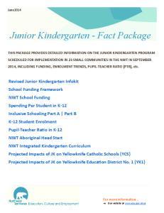 Junior Kindergarten - Fact Package