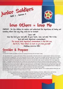Junior Soldiers. Consider & Prepare. Unit 1 : Lesson 7. Read: