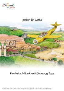 Junior: Sri Lanka Rundreise Sri Lanka mit Kindern, 15 Tage