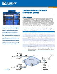 Juniper Networks Circuit to Packet Series
