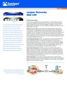 Juniper Networks SSG 140