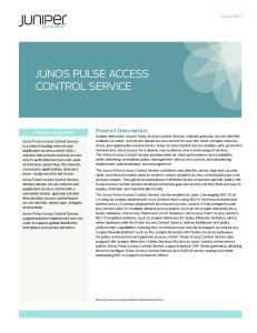 JUNOS PULSE ACCESS CONTROL SERVICE