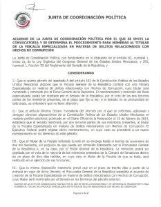 JUNTA DE COORDINACION POLITICA