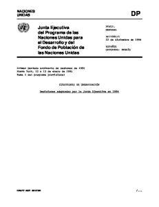Junta Ejecutiva del Programa de las Naciones Unidas para el Desarrollo y del Fondo de Población de las Naciones Unidas
