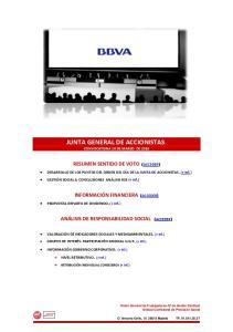 JUNTA GENERAL DE ACCIONISTAS. CONVOCATORIA 10 DE MARZO DE 2016
