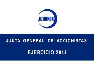 JUNTA GENERAL DE ACCIONISTAS EJERCICIO 2014