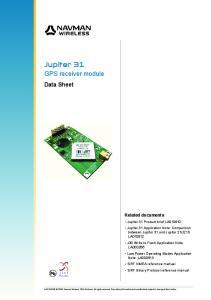Jupiter 31 GPS receiver module