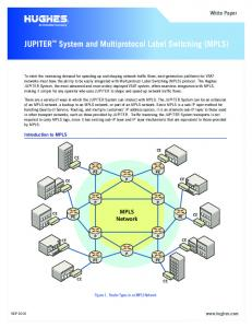 JUPITER System and Multiprotocol Label Switching (MPLS)