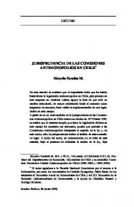 JURISPRUDENCIA DE LAS COMISIONES ANTIMONOPOLIOS EN CHILE *