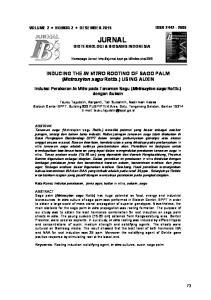 JURNAL BIOTEKNOLOGI & BIOSAINS INDONESIA