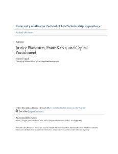 Justice Blackmun, Franz Kafka, and Capital Punishment
