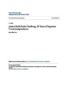 Justice Ruth Bader Ginsburg: 20 Years of Supreme Court Jurisprudence