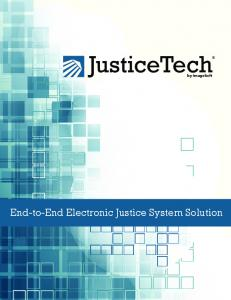 JusticeTech. by ImageSoft. End-to-End Electronic Justice System Solution