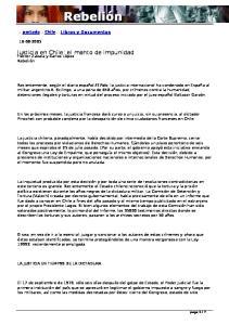 Justicia en Chile: el manto de impunidad