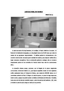 JUSTICIA PENAL EN FRANCIA