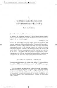 Justification and Explanation in Mathematics and Morality