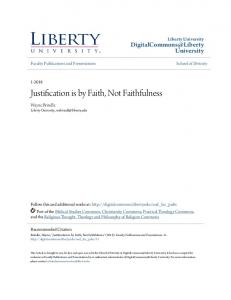 Justification is by Faith, Not Faithfulness