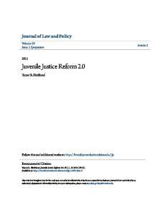 Juvenile Justice Reform 2.0